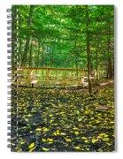 Bridge In Gosnell Big Woods Spiral Notebook