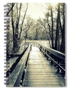 Bridge In The Wood Spiral Notebook