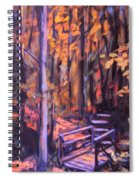 Bridge In Woods Near Pandapas Spiral Notebook
