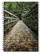 Bridge Leading Into The Bamboo Jungle Spiral Notebook