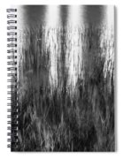 Bridge Of Lions Reflections St Augustine Florida Painted Bw   Spiral Notebook