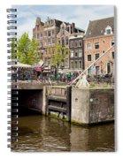 Bridge On Singel Canal In Amsterdam Spiral Notebook