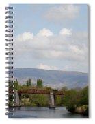 Bridge Over A River Spiral Notebook