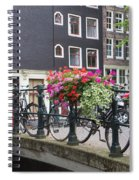 Bridge Over Canal In Amsterdam Spiral Notebook