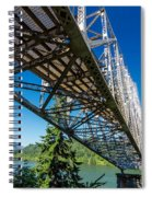 Bridge Over Columbia River Spiral Notebook