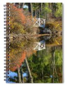 Bridge Over Fall Waters Spiral Notebook