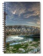 Bridge Over Icey Waters Spiral Notebook