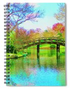 Bridge Over Lake In Spring Spiral Notebook