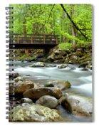 Bridge Over Little Pigeon River Spiral Notebook