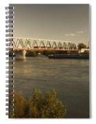 Bridge Over Rhein River Spiral Notebook