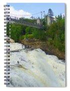 Bridge Over Rushing Water Spiral Notebook
