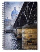 Bridge Over Seine In Paris Spiral Notebook