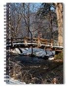 Bridge Over Snowy Valley Creek Spiral Notebook