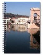 Bridge Over The Rhone River Spiral Notebook