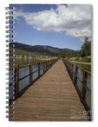Bridge Over Water Spiral Notebook