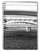Bridge Panorama Black And White Spiral Notebook