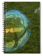 Bridge Reflections In The Bubbles Spiral Notebook
