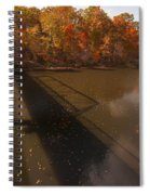Bridge Shadow In Autumn On The  Duck River Tennessee Fine Art Prints As Gift For The Holidays  Spiral Notebook