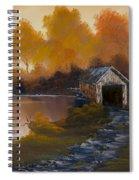 Covered Bridge In Fall Spiral Notebook