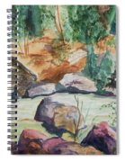 Bridge To The Hot Springs Spiral Notebook