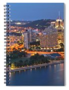 Bridge To The Pittsburgh Skyline Spiral Notebook