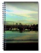 Bridge With White Clouds Spiral Notebook