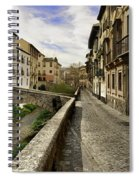 Bridges At Darro Street In Historic Albaycin In Granada Spiral Notebook