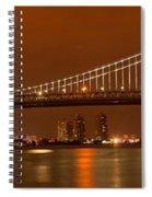 Bridging New Jersey And Pennsylvania Spiral Notebook