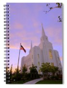 Brigham City Temple I Spiral Notebook