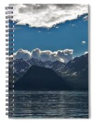 Bright And Cloudy Spiral Notebook