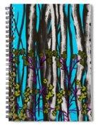 Bright Blue And Birch Spiral Notebook