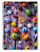 Bright Colorful Marbles Spiral Notebook
