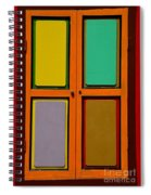 Bright Colorful Window Shutters With Four Panels Spiral Notebook