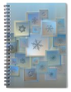 Snowflake Collage - Bright Crystals 2012-2014 Spiral Notebook