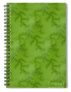 Bright Green Fractal Spiral Notebook