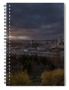 Bright Seattle Sunstar Dusk Skyline Spiral Notebook