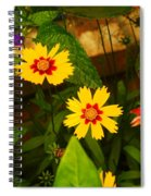Bright Yellow Flowers Spiral Notebook