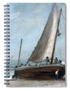 Brighton Beach With Fishing Boats Spiral Notebook