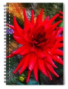 Brilliance In An Autumn Garden - Red Dahlia Spiral Notebook