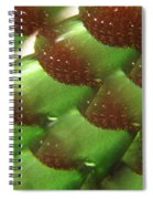 Brilliant Green Abstract 6 Spiral Notebook