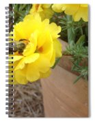 Brilliant Rose Flower With Buzzy Bee Spiral Notebook