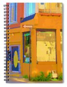 Bring Your Own Wine Restaurant Vents Du Sud Rue Roy Corner French Cafe Street Scene Carole Spandau Spiral Notebook