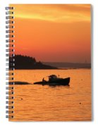Bringing In The Lobster Pots Spiral Notebook