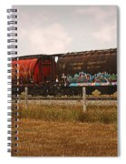 Bringing In The Wheat Canadian Railroad Spiral Notebook