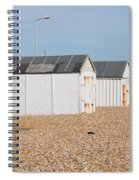 British Beach Huts In Sussex Spiral Notebook