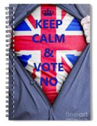British Businessman Votes No Spiral Notebook