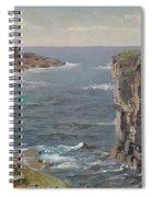 British Coastal View. Coast Of Cornwall Spiral Notebook