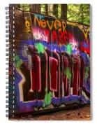 British Columbia Train Wreck Graffiti Spiral Notebook