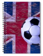 British Flag And Soccer Ball Spiral Notebook