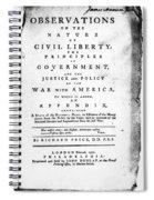 British Pamphlet, 1776 Spiral Notebook
